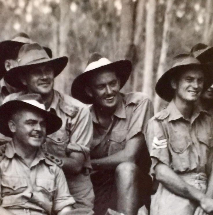 My grandfather (centre) in New Guinea after the Battle of Shaggy Ridge in 1944