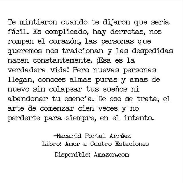 Les recomiendo a la escritora: @nacaridportal @nacaridportal @nacaridportal Libro: @amoracuatroestaciones más que una historia de amor. Disponible: Amazon.com Fragmento de mi libro: @amoracuatroestaciones Disponible en Amazon.com y en los siguientes países: Ecuador: +593 98-748-6034 @amoracuatroestacionesecuador Uruguay: 598 99431136 MÉxico: +52 1 55 26615914 Colombia: 00573152225037/+57 312 343 7767 Panamá: +50762858446 Argentina: 1135870179 @gloriana_ph Costa Rica...