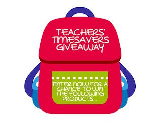 An Educator's Life: Teachers' Timesavers Giveaway  Be sure to enter the contest to win - 16 FREE fabulous products from 16 amazing teacher-authors. You won't want to miss this one! Click NOW! :)