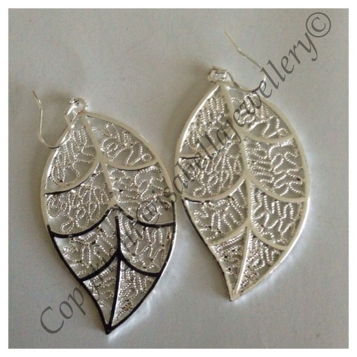 I'm selling Sterling silver filled leaf earrings - A$35.95 #onselz