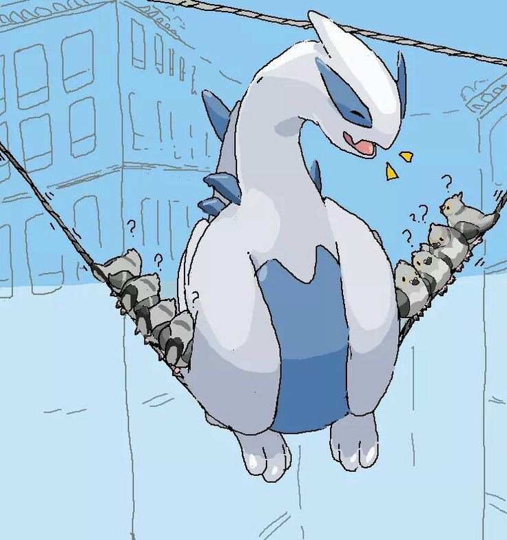 Lugia! Just because there's only one of you doesn't mean you can pretend to be a small bird