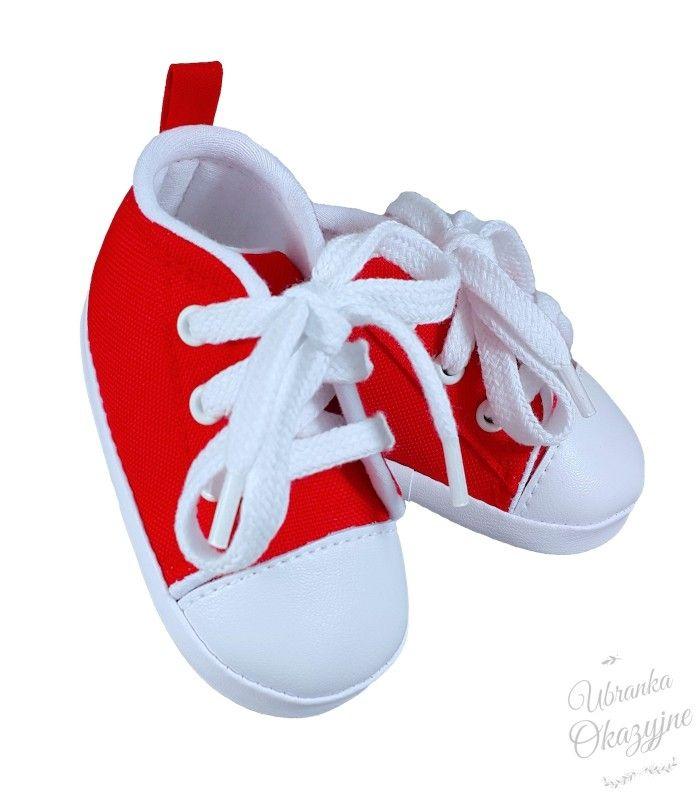 Trampki Niechodki Czerwone Sklep Ubranka Okazyjne Baby Shoes Baby Fashion Kids Fashion