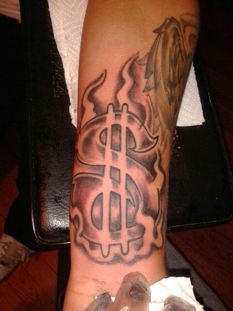 Dollar Sign Tattoo