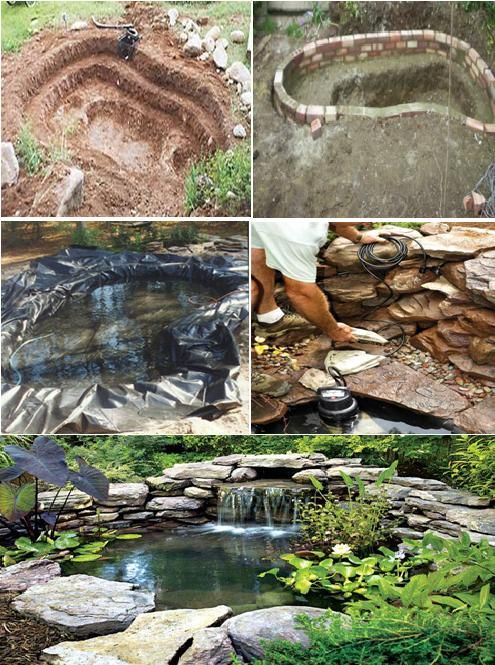 367 best images about outdoor water features on pinterest for How to build a koi pond step by step