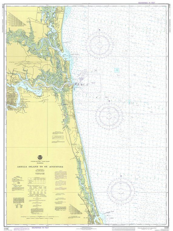 1977 Nautical Chart Of Florida Coast In 2019 Products Nautical Chart Nautical Chart