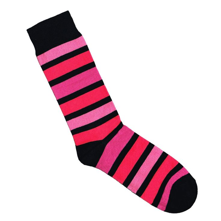 Lafitte black and pink gradient stripe socks