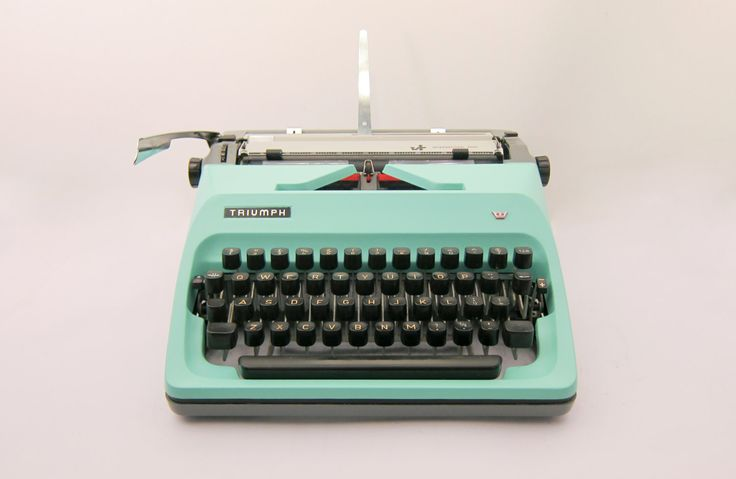 New to TheHammersmith on Etsy: 1960's - Triumph Adler International 2000 Portable Typewriter - Seafoam Mint - Working - Yet to be cleaned - Includes Case (199.00 EUR)