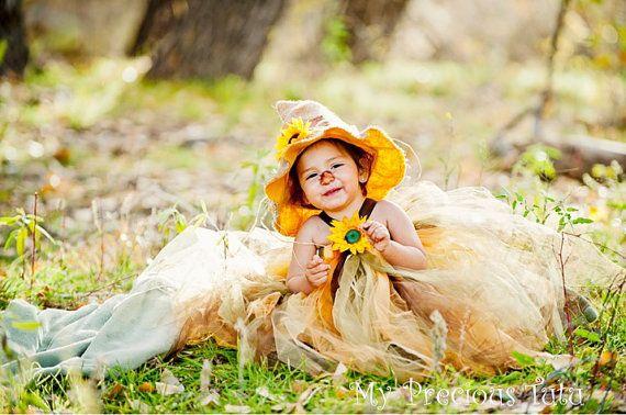Scarecrow Tutu Costume with Hat by MyPreciousTutu www.Etsy.com/shop/MyPreciousTutu
