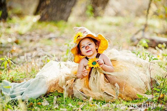 SOLD OUT  Scarecrow Tutu Costume with Hat by MyPreciousTutu, $60.00
