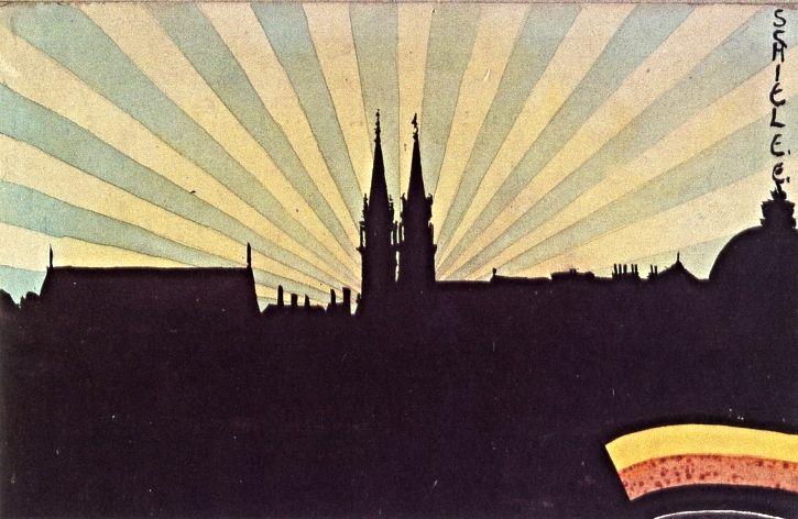 Silhouette of Klosterneuburg, 1906