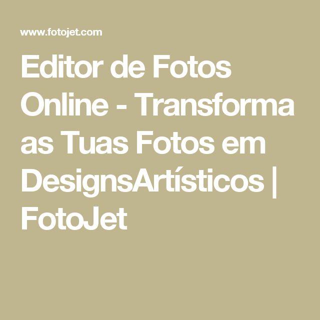 Editor de Fotos Online - Transforma as Tuas Fotos em DesignsArtísticos   FotoJet