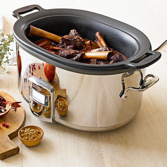 All-Clad 7-Qt. Deluxe Slow Cooker with Cast Aluminum Insert - additional 20% off with code:  SAVENOW - ends 12/8 - http://rstyle.me/n/dppawnyg6