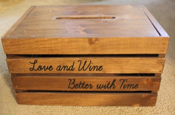 Custom Personalized Wine Crate Card Box With by ruralartisanworks