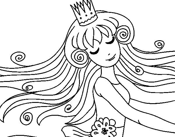Disegno di Principessa dolce da Colorare