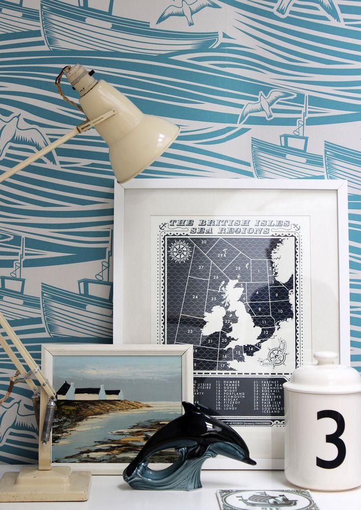 Mini Moderns — Whitby Wallpaper - Lido