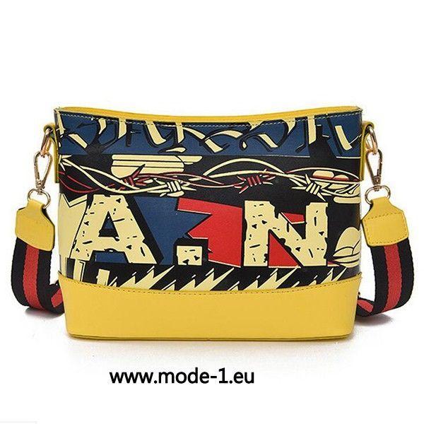 Druck Damen Shopping Tasche in Gelb – Mode 2019 Kleider Abendkleider Brautkleider & Accessorize