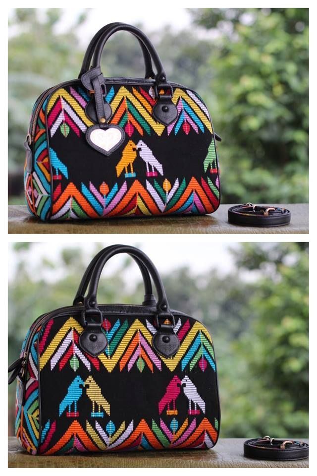 tenun bima black bag