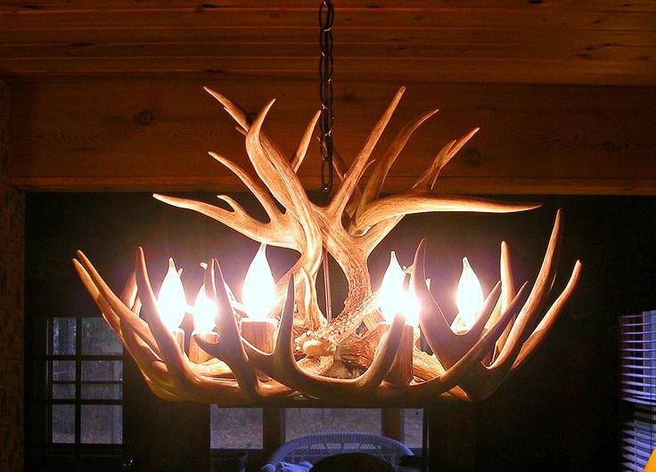 Brand New 26 Inch Whitetail Deer Shed Antler Chandelier. $569.95, Via Etsy. Hirschgeweih  KronleuchterHirschgeweihSchöne ...