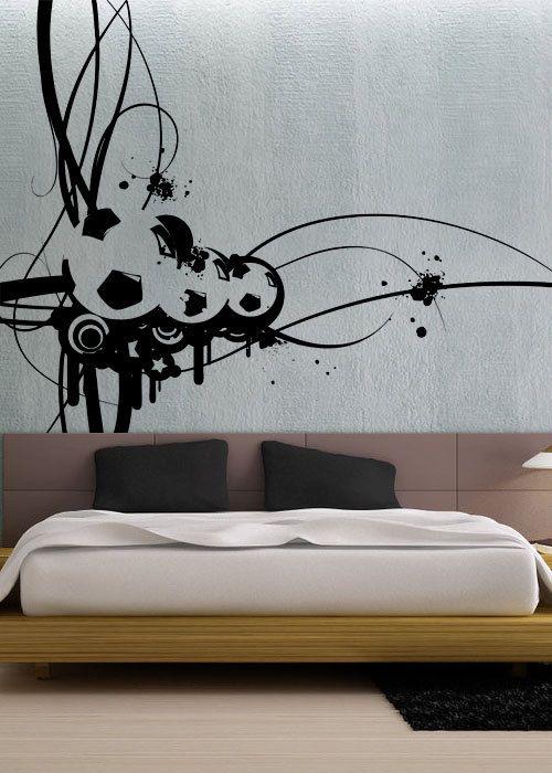 Modern Soccer - uBer Decals Wall Decal Vinyl Decor Art Sticker Removable Mural Modern A297