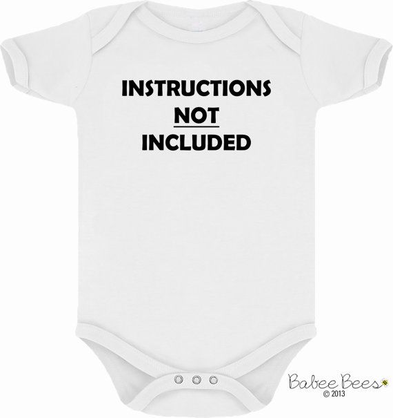 Instructions Not Included, Baby Shirt, Funny Baby Clothes, Gender Neutral Baby Clothes, Unique Baby Gifts, Custom Baby, Baby Girl, Baby Boy