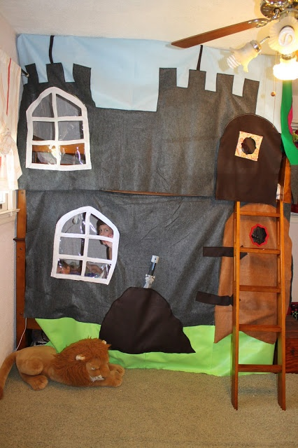 Castle Bunk Bed Cover I Can Do Cool Stuff Too Pinterest Bunk