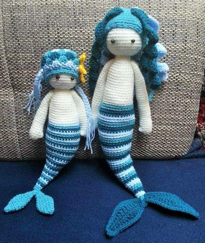 Das Wollpaket ist wieder ruckzuck da gewesen, also konnte ich die kleine Meerjungfrau fertig machen:         Diese Version ist schon deutli...