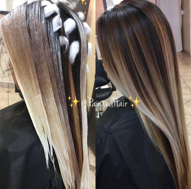Placement Is By Thebtcteam S Patricia Nikole Painted Cheveux Teints Beaux Cheveux Longs Coloration Cheveux