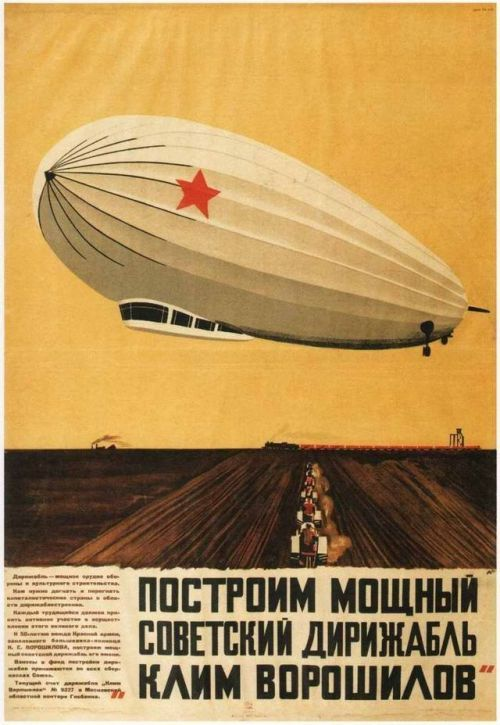 sovietpostcards: Airship propaganda posters, USSR 1931 (via)