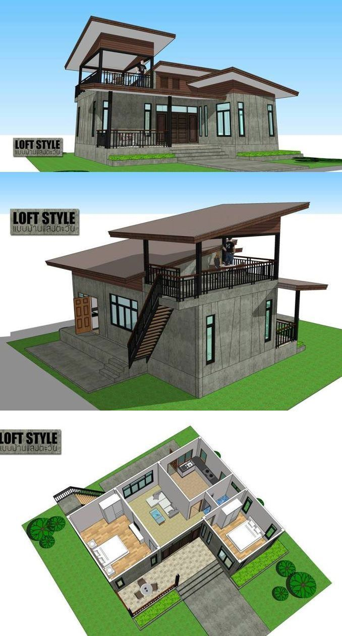Loft Style House with 2 bedrooms, bedrooms