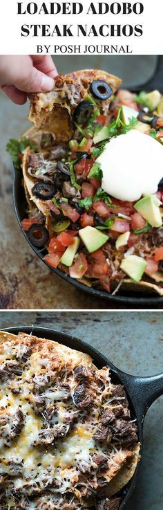 Loaded Steak Nachos – The Perfect Game Day Finger Food! - Posh Journal #VivaLaMorena #ad