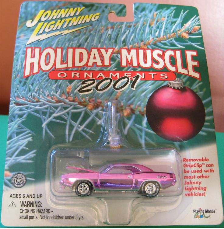 Johnny Lightning 2001 Holiday Muscle Ornaments 70 Hemi