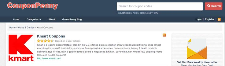 Kmart FREE Shipping Promo Code & Double Coupons 2015 http://couponpenny.com/stores/kmart-coupons/