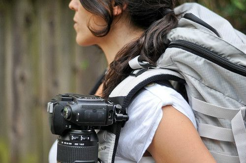 Capture by Peak Design - wear your DSLR camera on any backpack strap or belt. Active photographers, rejoice.