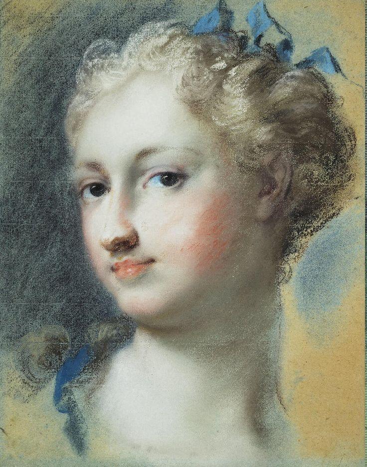 Carriera Rosalba - Head of a Fair-Haired Woman