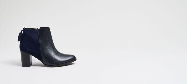 Кожаная обувь на каблуке