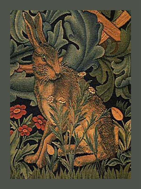 Detail from a panel of the famous tapestries by William Morris.  Repinned by www.mygrowingtraditions.com