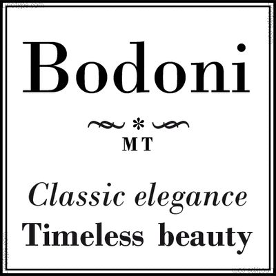 Bodoni font ... the roman bold on the bottom line was the one used in newspaper headlines, along with a bold italic.