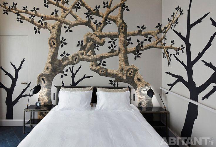 Декоративное оформление стен в спальне