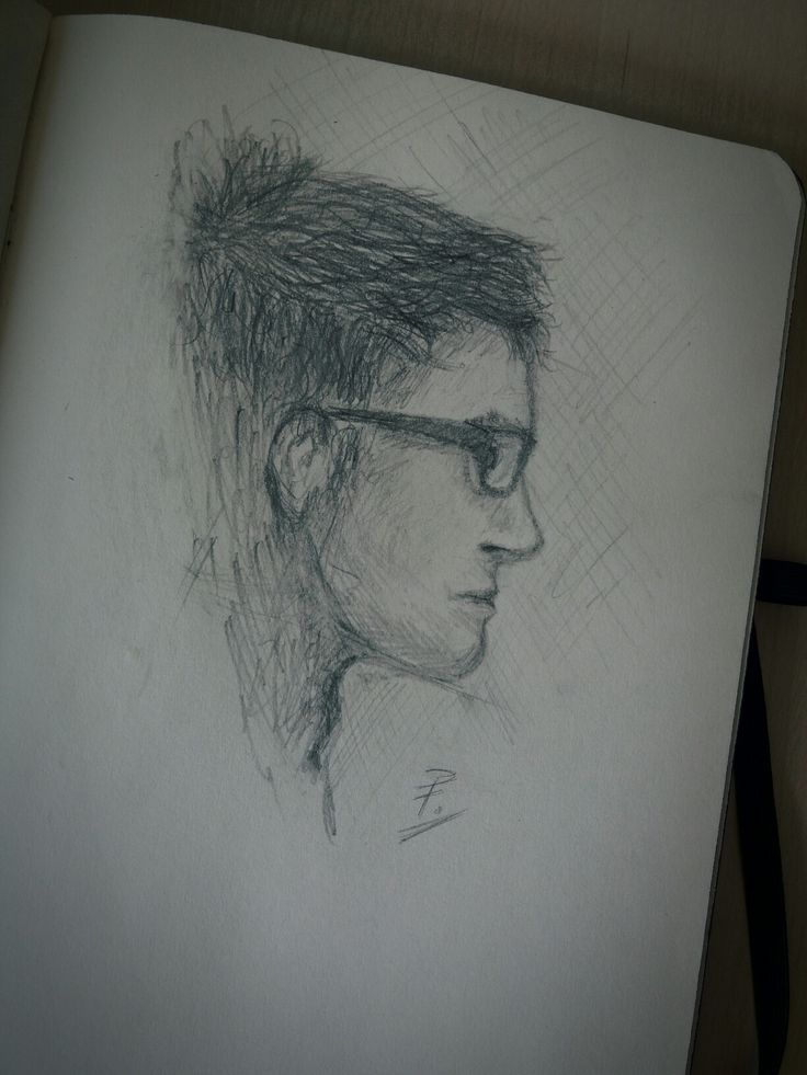 Male Profile Sketch