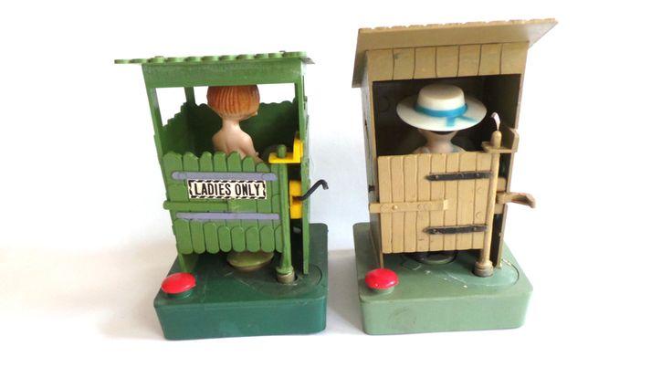 Gag Gift Outhouse, Peeing Outhouse Novelty Item, Yankee Swap, Joke Gift by LizzieTishVintage on Etsy