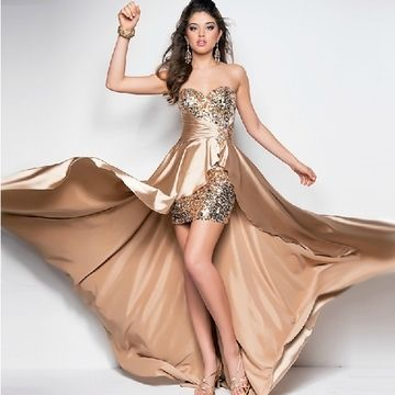 Prom Dress Beading  party dresses Bodice High Neck Cheap Prom Gowns