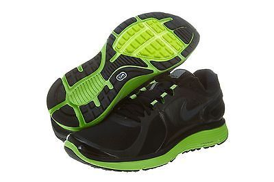 NIKE LUNARECLIPSE+ 2 SHIELD MENS 537918-003 Black Green Running Shoes Size 8