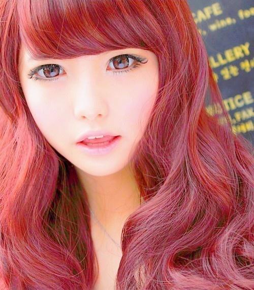 Japanese Anime Hairstyles: Super Kawaii Eyes. Like Anime