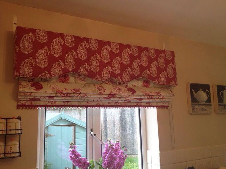 Beautiful Upholstered Pelmet Amp Roman Blind For Kitchen