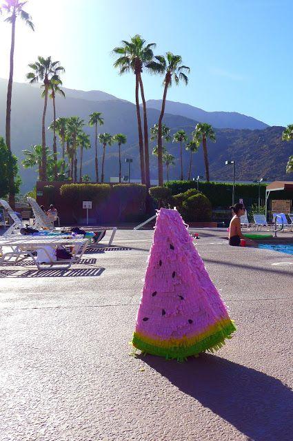Beyonce themed bachelorette weekend: Watermelon piñata