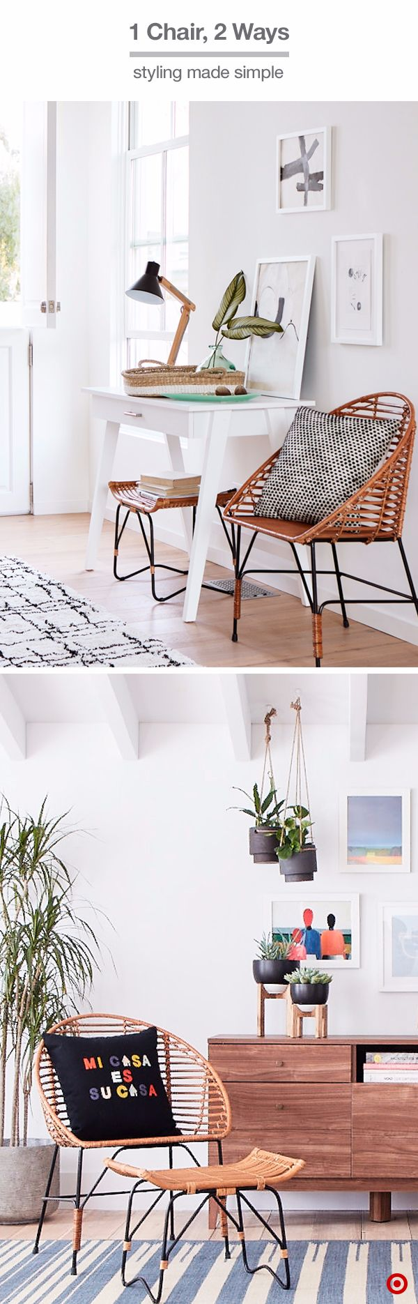 Adding This Sculptural Rattan Chair To A Room Will Create A Stylish Impact  Thatu0027s Still Relaxed