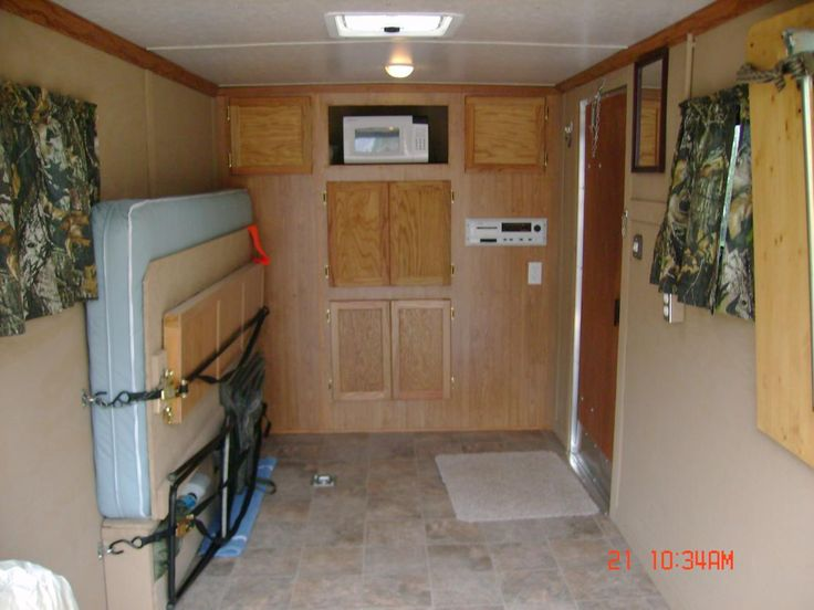 Cargo Trailer Camper Conversion Ideas | This is just a 6 x 12 but I finished it out so I would