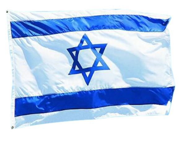 Show your support of Israel. 3 x 5 feet Israeli Flag (FREE SHIPPING).