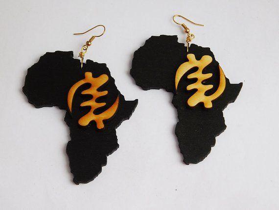 wax Womens jewelry Bantu African fabric earrings cuff African jewelry jewelry wax ornament wax wax wax black geo