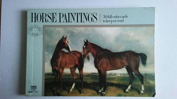 Check out this item in my Etsy shop https://www.etsy.com/listing/561143150/vintage-horse-paintings-postcard-book